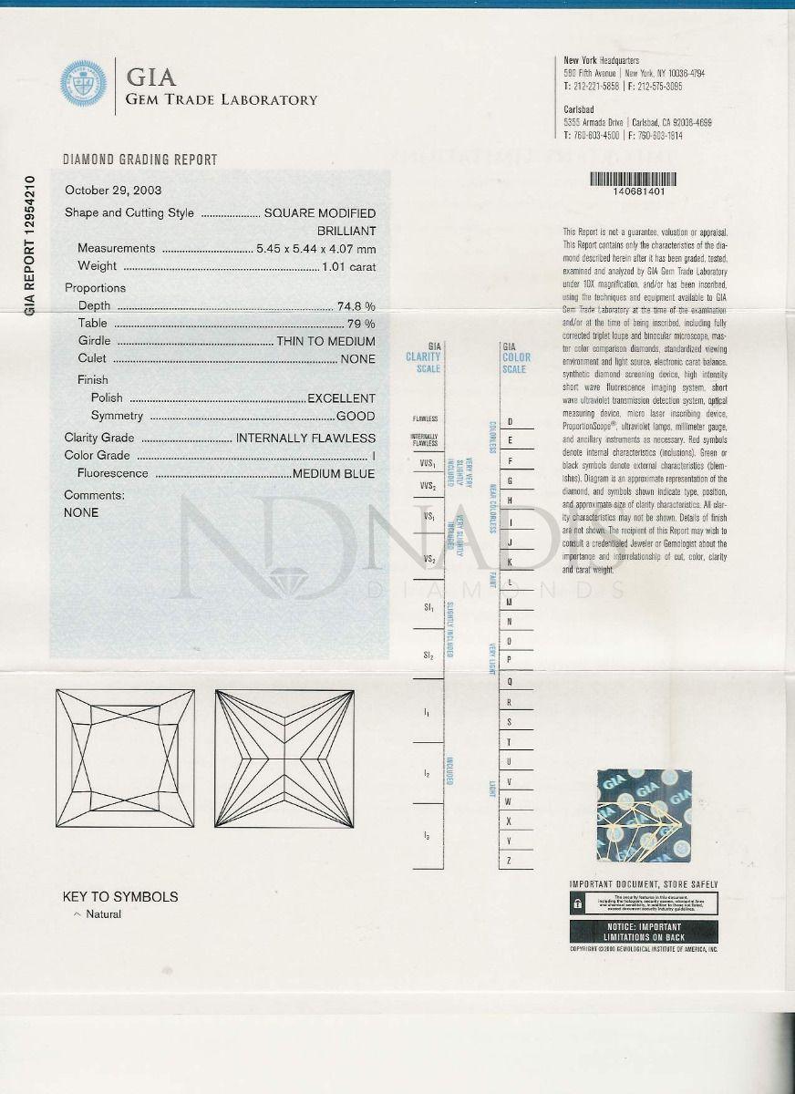 101 Ct Gia Certified Iif Princess Cut Diamond