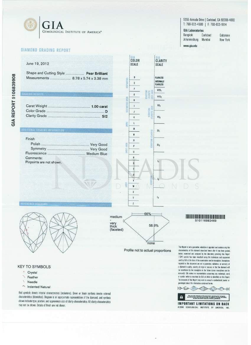 100 ct gia certified dsi2 pear shape diamond nvjuhfo Images