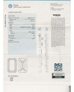 0.90 Ct. GIA Certified HSI2 Emerald Cut Diamond.