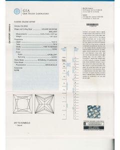 1.01 Ct. GIA Certified IIF Princess Cut Diamond.