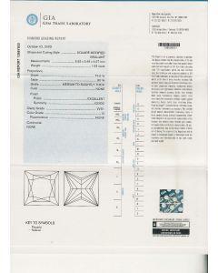 1.03 Ct. GIA Certified GVVS1 Princess Cut Diamond.