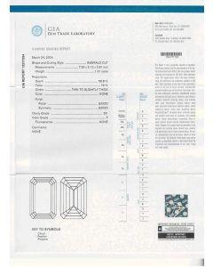 1.01 Ct. GIA Certified FSI1 Emerald Cut Diamond.