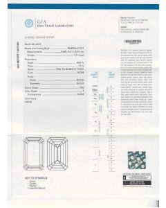 1.01 Ct. GIA Certified FVS2 Emerald Cut Diamond.