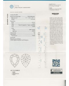 1.54 Ct. GIA Certified DSI2 Pear Shape Diamond.
