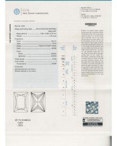 1.04 Ct. GIA Certified IVVS2 Princess Cut Diamond.
