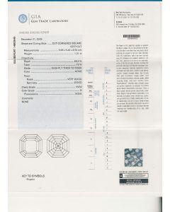 1.01 Ct. GIA Certified GVVS2 Asscher Cut Diamond.