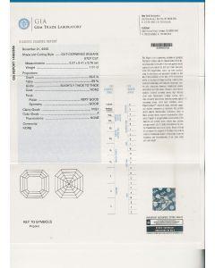 1.01 Ct. GIA Certified FVVS1 Asscher Cut Diamond.