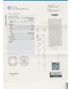 1.01 Ct. GIA Certified GVS1 Asscher Cut Diamond.