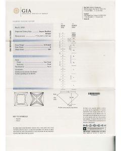 2.10 Ct. GIA Certified GVS1 Princess Cut Diamond.