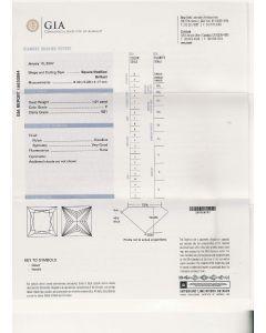 1.01 Ct. GIA Certified FVS1 Princess Cut Diamond.