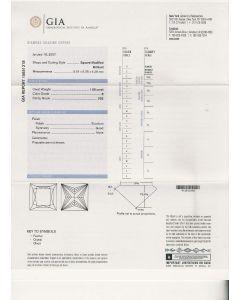 1.00 Ct. GIA Certified EVS2 Princess Cut Diamond.