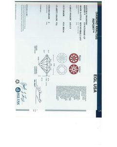 4.02 Ct. EGL Certified JVS1 Round Brilliant Cut Diamond.