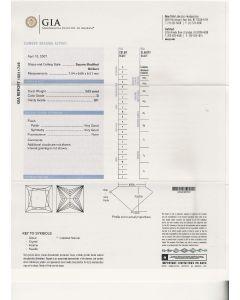 2.03 Ct. GIA Certified DSI1 Princess Cut Diamond.