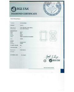 1.01 Ct. EGL Certified ESI2 Radiant Cut Diamond.