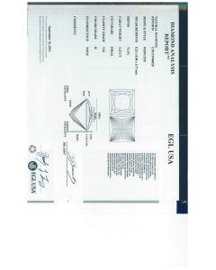 3.23 Ct. EGL Certified HVS2 Princess Cut Diamond.