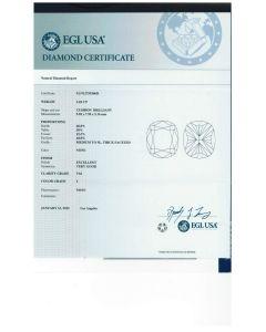 3.03 Ct. EGL Certified IVS2 Cushion Cut Diamond.