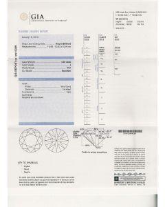 4.20 Ct. GIA Certified JVS1 Round Brilliant Cut Diamond.