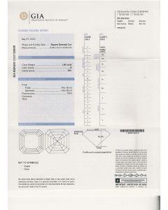 1.00 Ct. GIA Certified EVS1 Asscher Cut Diamond.