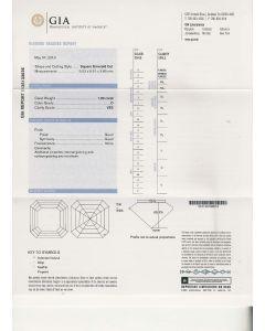 1.00 Ct. GIA Certified DVS2 Asscher Cut Diamond.