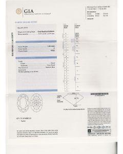 1.05 Ct. GIA Certified FVVS2 Oval Shape Diamond.