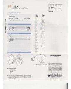 1.02 Ct. GIA Certified GVVS2 Oval Shape Diamond.