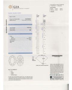 1.00 Ct. GIA Certified JVS2 Oval Shape Diamond.