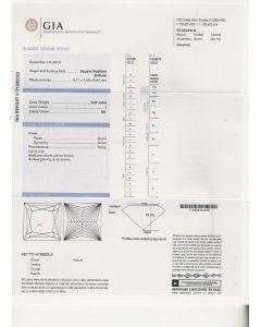 3.07 Ct. GIA Certified ISI1 Princess Cut Diamond.