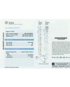 0.91 Ct. GIA Certified DVS1 Asscher Cut Diamond.