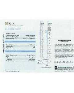0.80 Ct. GIA Certified DSI2 Pear Shape Diamond.