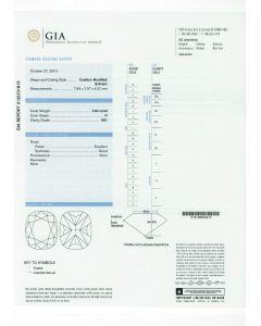 2.04 Ct. GIA Certified HVS1 Cushion Cut Diamond.