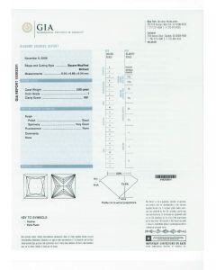 2.00 Ct. GIA Certified IVS1 Princess Cut Diamond.