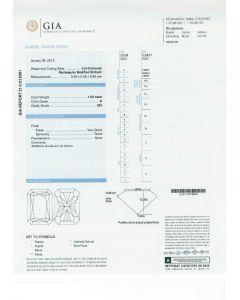 1.00 Ct. GIA Certified GSI2 Radiant Cut Diamond.