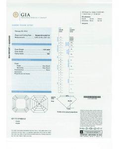 1.02 Ct. GIA Certified JVS1 Asscher Cut Diamond.