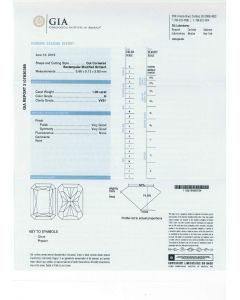 1.00 Ct. GIA Certified HVVS1 Radiant Cut Diamond.