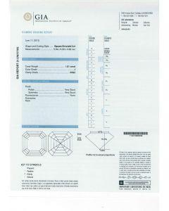 1.01 Ct. GIA Certified JVVS2 Asscher Cut Diamond.