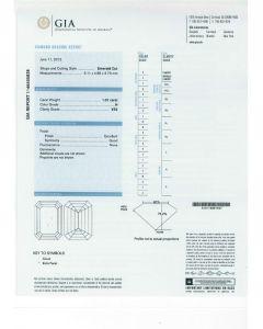 1.01 Ct. GIA Certified HVS2 Emerald Cut Diamond.