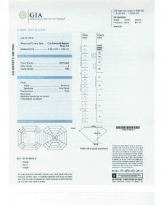 4.29 Ct. GIA Certified JVS2 Asscher Cut Diamond.