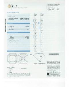5.02 Ct. GIA Certified JVS1 Asscher Cut Diamond.