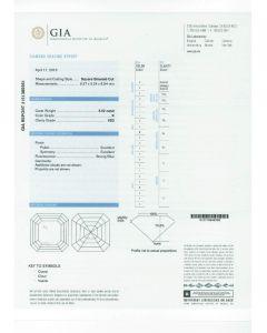 5.02 Ct. GIA Certified KVS2 Asscher Cut Diamond.