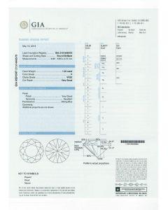 1.20 Ct. GIA Certified HVVS2 Round Brilliant Cut Diamond.