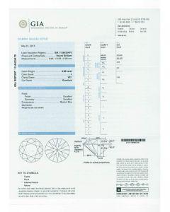 3.88 Ct. GIA Certified JVS1 Round Brilliant Cut Diamond.