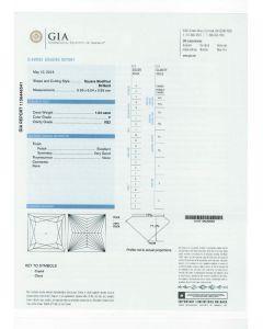 1.04 Ct. GIA Certified FVS2 Princess Cut Diamond.