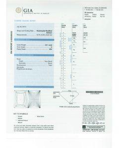 4.01 Ct. GIA Certified HVS2 Princess Cut Diamond.