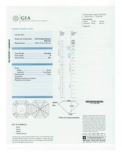 1.52 Ct. GIA Certified DSI1 Asscher Cut Diamond.