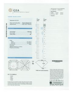 1.52 Ct. GIA Certified ESI1 Asscher Cut Diamond.
