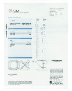 5.50 Ct. GIA Certified IVS2 Asscher Cut Diamond.