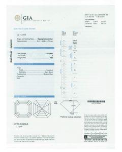 5.50 Ct. GIA Certified IVS2 Asscher Cut Diamond.