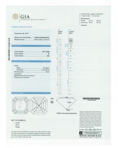 2.01 Ct. GIA Certified GSI2 Asscher Cut Diamond.