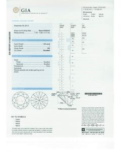 1.25 Ct. GIA Certified ISI2 Round Brilliant Cut Diamond.