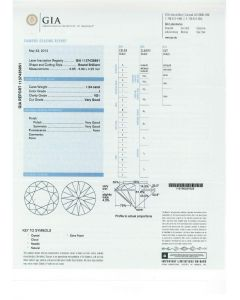 1.24 Ct. GIA Certified JVS1 Round Brilliant Cut Diamond.